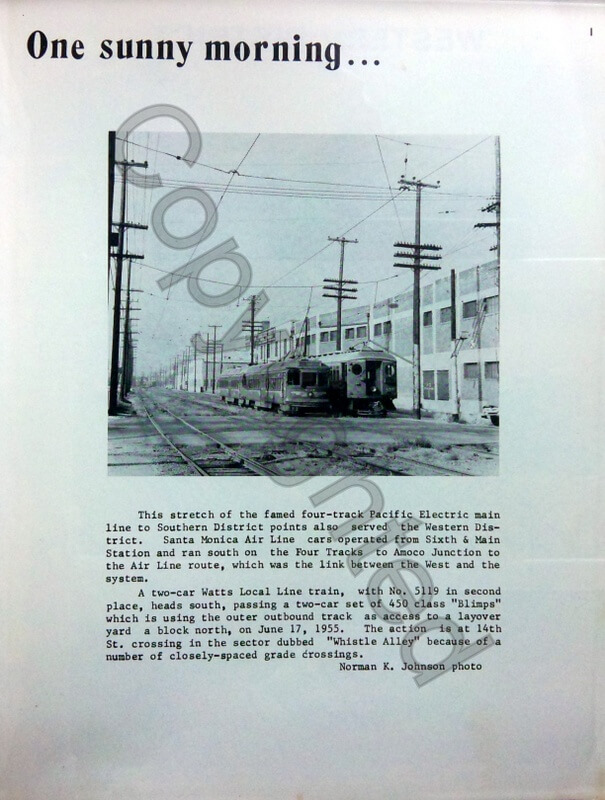 Lines of Pacific Electric S & W Districts