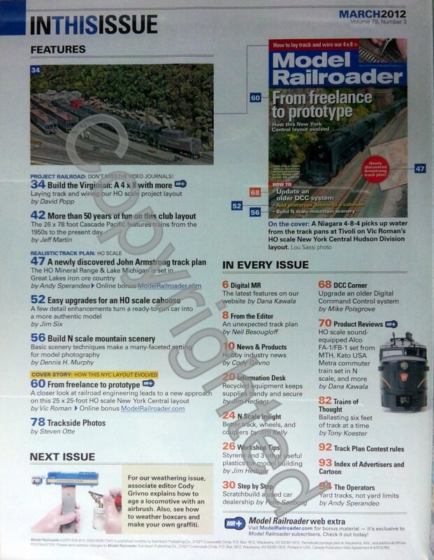 Model Railroader 2012 March